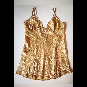 Gold Satin Slip
